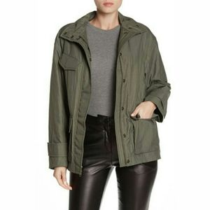 NWT Vince Green Flap Pocket Utility Style Anorak